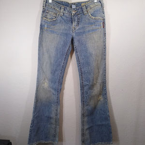"""Silver Jeans Pioneer Bootcut """"Dirty"""" wash Jeans"""